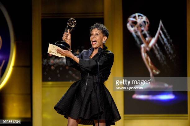 Vernee Watson winner of Outstanding Guest Performer in a Drama Series for 'General Hospital' accepts award onstage during the 45th annual Daytime...