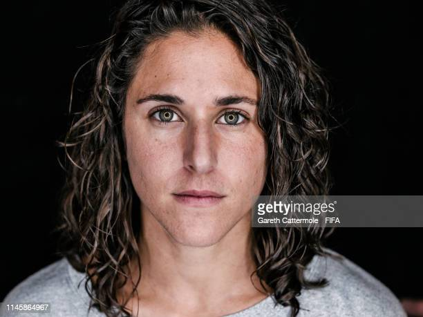 Verónica Boquete poses during a FIFA portrait session on December 7 2018 in Paris France