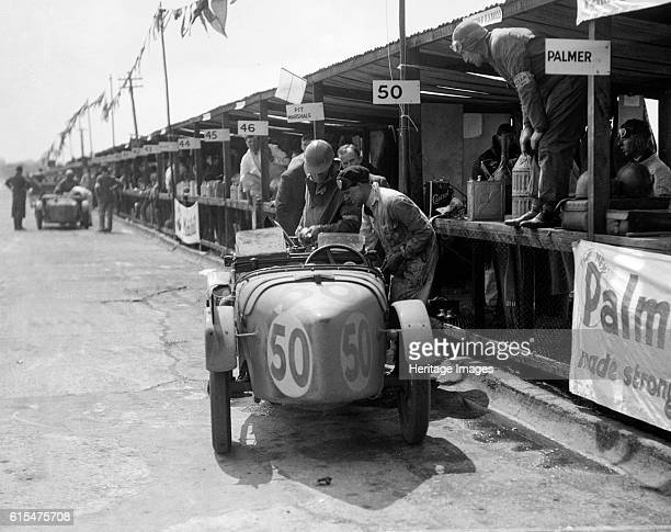 Vernon Balls and AB Gilbert's Austin Ulster at the JCC Double Twelve race Brooklands 8/9 May 1931 Austin Ulster 747S cc Event Entry No 50 Driver...