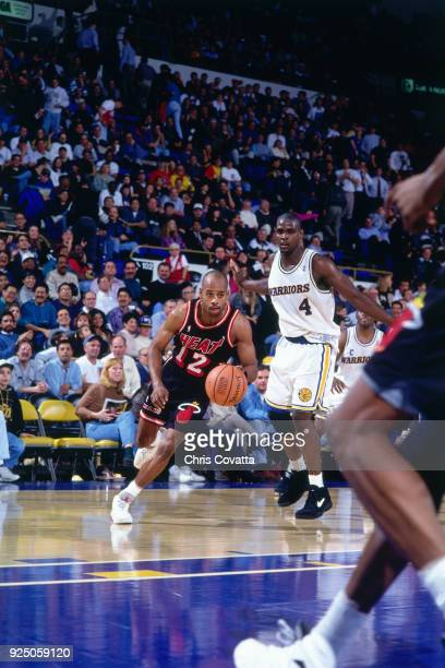Vernon Bimbo Coles of the Miami Heat drives during a game played on January 12 1994 at the Arena in Oakland in Oakland California NOTE TO USER User...