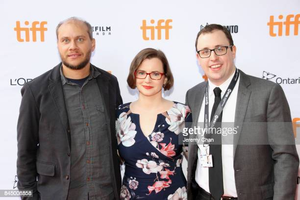 """Vernon Chatman, Ryan Cunningham, and John Skidmore attend the """"I Love You Daddy"""" premiere during the 2017 Toronto International Film Festival at..."""