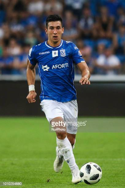 Vernon de Marco during UEFA Europa League Second Qualifying Round 2st leg match between Lech Poznan and Shakhtior Soligorsk at Stadion Miejski in...