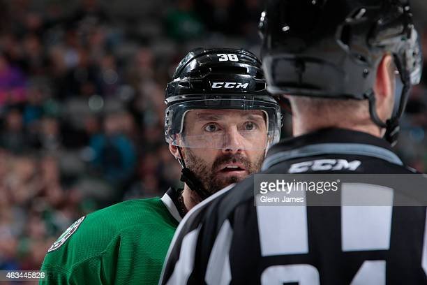 Vernon Fiddler of the Dallas Stars skates against the Colorado Avalanche at the American Airlines Center on February 3 2015 in Dallas Texas