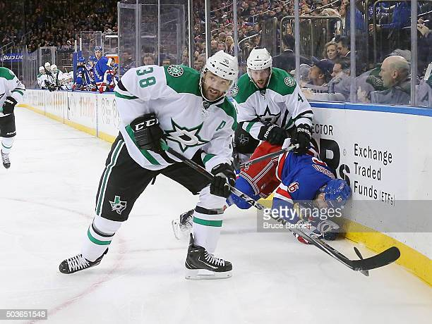 Vernon Fiddler of the Dallas Stars skates against the New York Rangers at Madison Square Garden on January 5 2016 in New York City The Rangers...