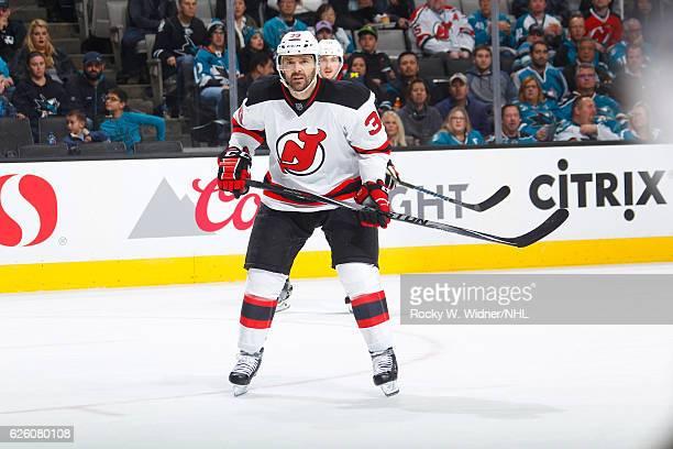 Vernon Fiddler of the New Jersey Devils skates against the San Jose Sharks at SAP Center on November 21 2016 in San Jose California