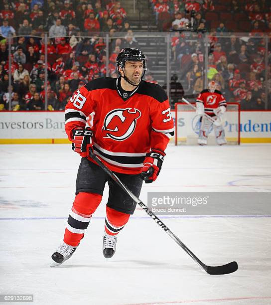Vernon Fiddler of the New Jersey Devils skates against the St Louis Blues at the Prudential Center on December 9 2016 in Newark New Jersey