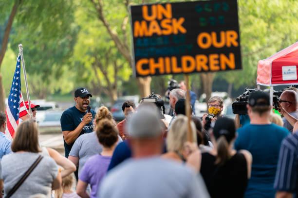 GA: Demonstrators Attend 'Unmask Our Children' Protest