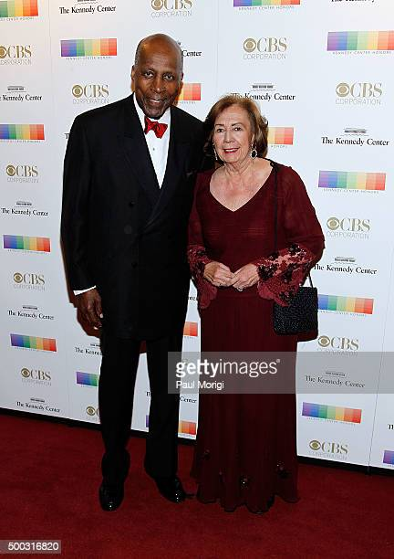 Vernon Jordan and Ann Jordan attend the 38th Annual Kennedy Center Honors Gala at John F Kennedy Center for the Performing Arts on December 6 2015 in...