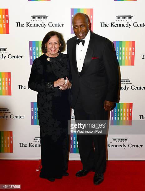 Vernon Jordan and wife Ann Dibble Jordan arrive at a special dinner for Kennedy Center honorees and guests at the State Department in Washington DC...