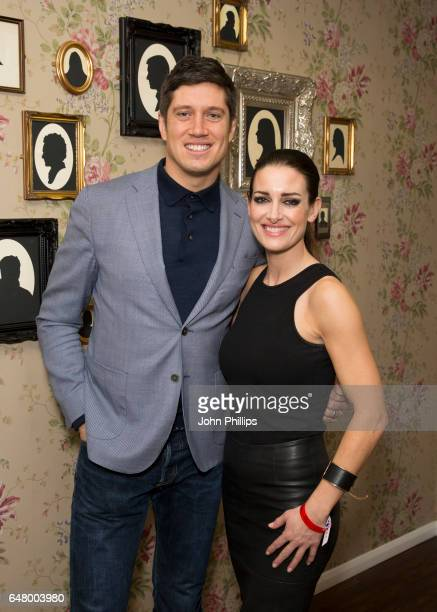 Vernon Kay and Kirsty Gallacher attend The David Haye Vs Tony Bellew Fight at The O2 Arena on March 4 2017 in London England