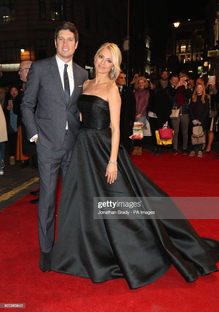 Vernon Kay and Tess Daly arrive arrives at the BBC event Bruce: A Celebration at the London Palladium, which will honour the life of the late entertainer Sir Bruce Forsyth.