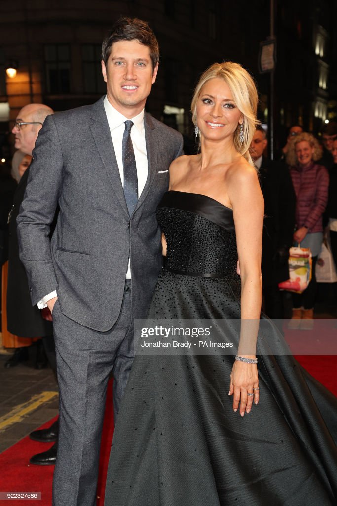 Vernon Kay and Tess Daly arrive at the BBC event Bruce: A Celebration at the London Palladium, which will honour the life of the late entertainer Sir Bruce Forsyth.