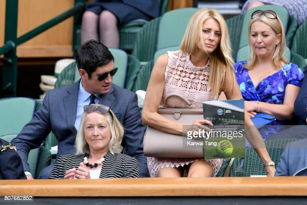 Vernon Kay and Tess Daly attend day 2 of Wimbledon 2017 on July 4 2017 in London United Kingdom