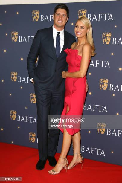 Vernon Kay and Tess Daly attend the BAFTA Film Gala at the The Savoy Hotel ahead of the EE British Academy Film Awards this Sunday on February 08...