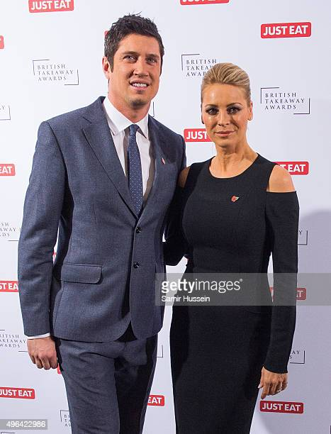 Vernon Kay and Tess Daly attend the British Takeaway Awards at The Savoy Hotel on November 9 2015 in London England