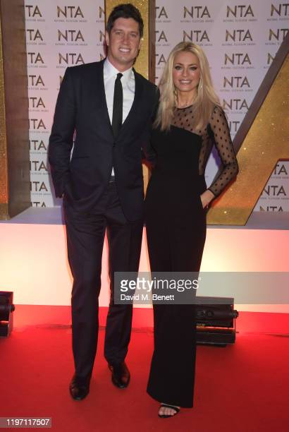 Vernon Kay and Tess Daly attend the National Television Awards 2020 at The O2 Arena on January 28 2020 in London England