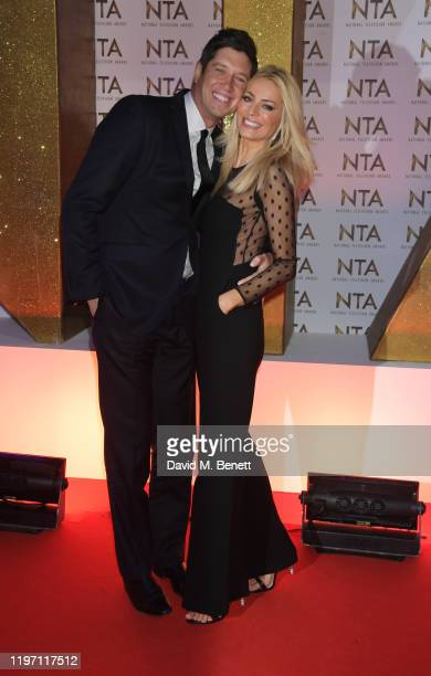 Vernon Kay and Tess Daly attend the National Television Awards 2020 at The O2 Arena on January 28, 2020 in London, England.
