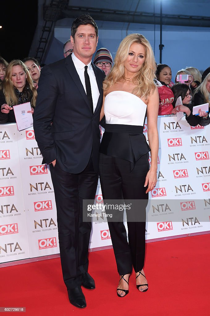 Vernon Kay and Tess Daly attend the National Television Awards at The O2 Arena on January 25, 2017 in London, England.
