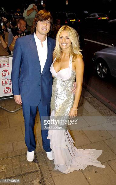 Vernon Kay and Tess Daly during 2005 TV Quick TV Choice Awards Arrivals at The Dorchester in London Great Britain