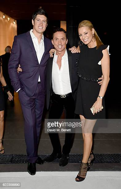 Vernon Kay, Bruno Tonioli and Tess Day attend the anniversary party for Kelly Hoppen MBE celebrating 40 years as an Interior Designer, at Alva...