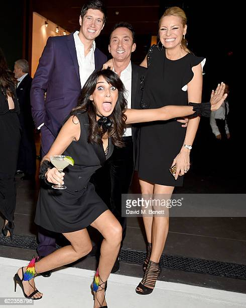 Vernon Kay Bruno Tonioli Tess Day and Jackie St Clair attend the anniversary party for Kelly Hoppen MBE celebrating 40 years as an Interior Designer...