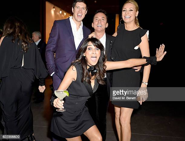 Vernon Kay, Bruno Tonioli, Tess Day and Jackie St Clair attend the anniversary party for Kelly Hoppen MBE celebrating 40 years as an Interior...