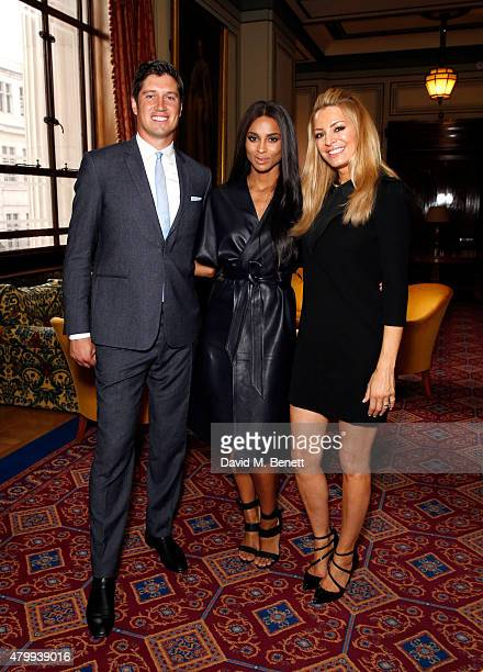 Vernon Kay Ciara and Tess Daly attend the Fashion Retail Academy 10th Anniversary Awards at Freemasons' Hall on July 8 2015 in London England
