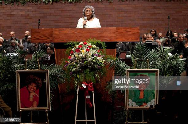 Vernon Oliver Price attends a memorial service for Albertina Walker at the Apostolic Church of God on October 14, 2010 in Chicago, Illinois.