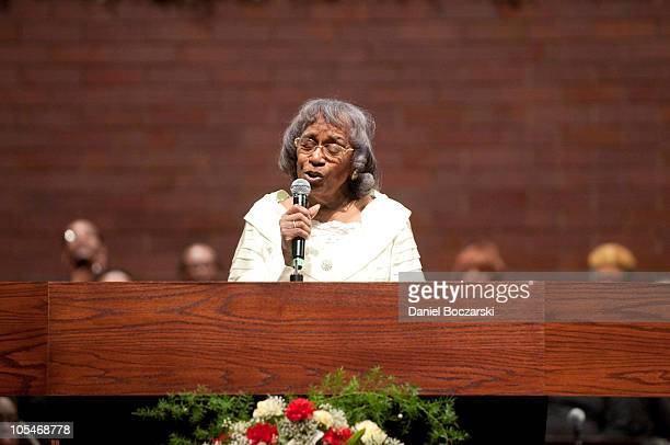 Vernon Oliver Price attends a memorial service for Albertina Walker at the Apostolic Church of God on October 14 2010 in Chicago Illinois