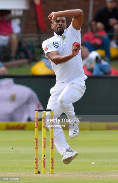 Vernon Philander of South Africa during day 1 of the 2nd Sunfoil Test match between South Africa and Australia at St Georges Park on March 09 2018 in...