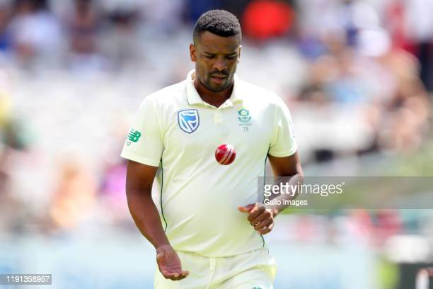 Vernon Philander of South Africa during day 1 of the 2nd Test match between South Africa and England at Newlands Cricket Stadium on January 03, 2020...