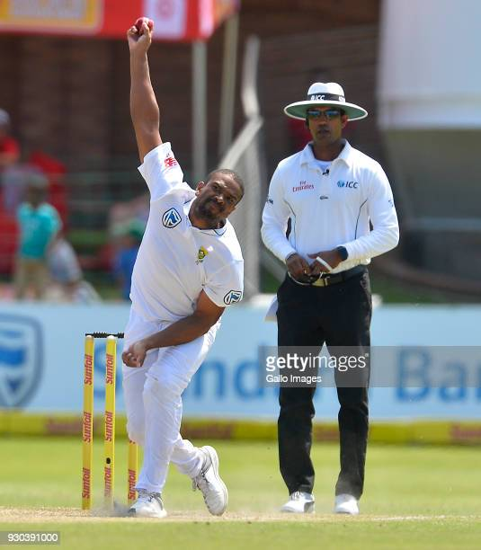Vernon Philander of South Africa during day 3 of the 2nd Sunfoil Test match between South Africa and Australia at St Georges Park on March 11 2018 in...