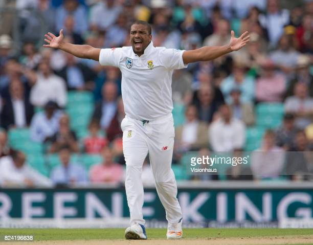 Vernon Philander of South Africa during day one of the 3rd Investec test between England and South Africa at The Kia Oval on July 27 2017 in London...