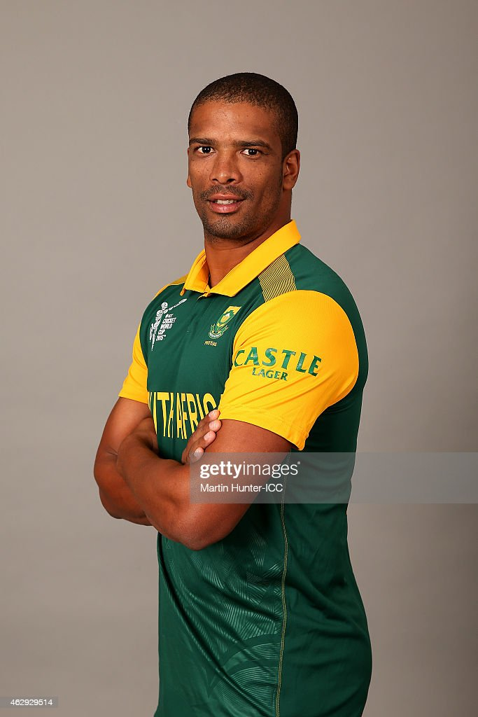 Vernon Philander poses during the South Africa 2015 ICC Cricket World Cup Headshots Session at the Rydges Latimer on February 7, 2015 in Christchurch, New Zealand.