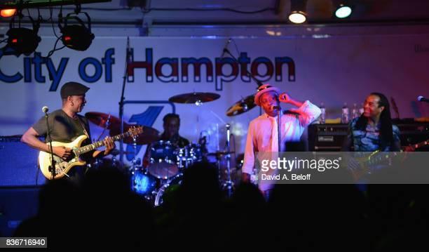 Vernon Reid Will Calhoun Corey Glover Doug Wimbish of Living Colour perform live at Downtown Hampton on August 19 2017 in Hampton Virginia