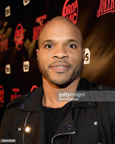 Vernon Sundiata Gaines at TBS' Drop the Mic and The Joker's Wild Premiere Party at Dream Hotel on October 11 2017 in Hollywood California Shoot ID...