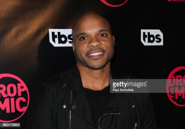 "Vernon Sundiata Gaines attends the premiere for TBS's ""Drop The Mic"" and ""The Joker's Wild"" at The Highlight Room on October 11, 2017 in Los Angeles,..."