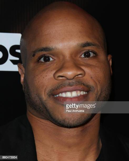 Vernon Sundiata Gaines attends the premiere for TBS's Drop The Mic and The Joker's Wild at The Highlight Room on October 11 2017 in Los Angeles...