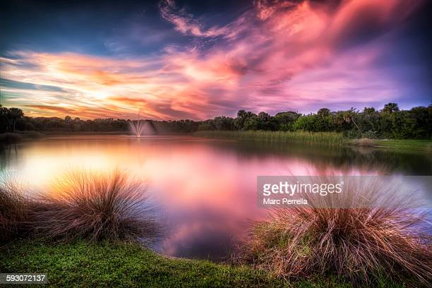 vero beach at dusk - vero beach stock pictures, royalty-free photos & images