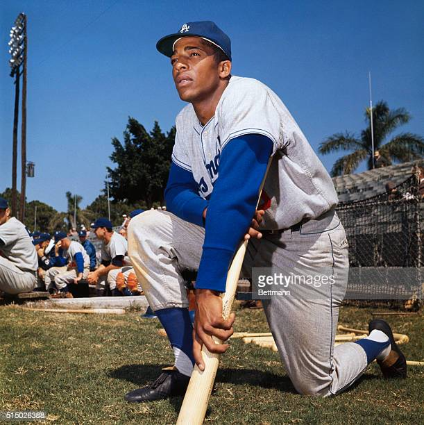 Vero Beach, Florida: Willie Davis of the L.A. Dodgers during spring training.