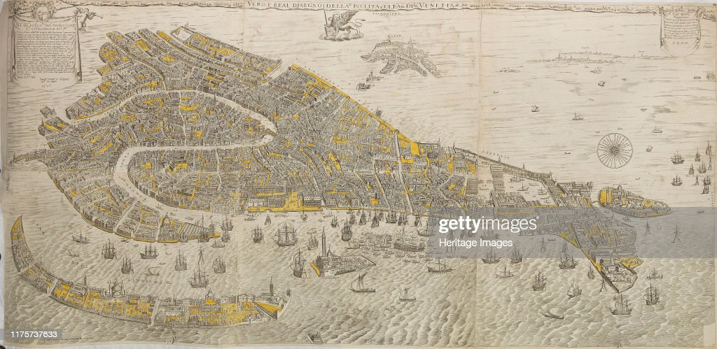 Vero E Real Disegno Della Inclita Cita Di Venetia. (Panorama Of Venice) : ニュース写真