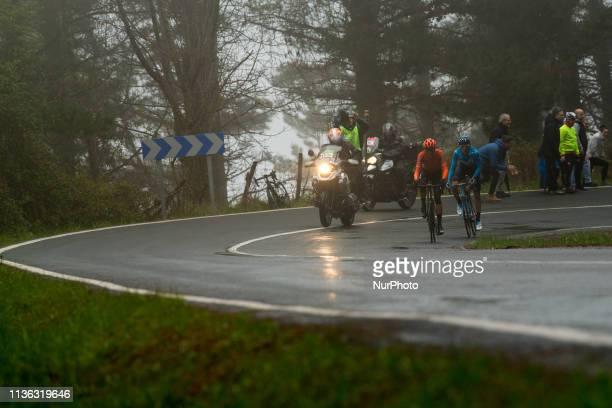 Verona and De Marchi in the 4th stage of 59th ItzuliaVuelta Ciclista Pais Vasco 2019 on April 11 2019 in Arrigorriaga Spain