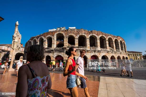 verona arena - television show stock pictures, royalty-free photos & images