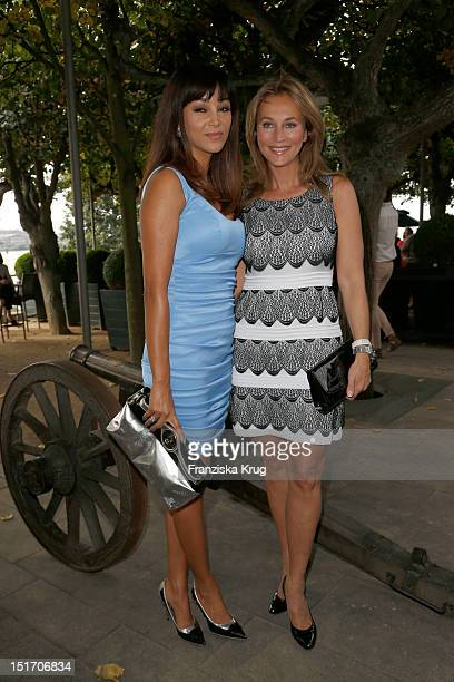 Verona Pooth and Caroline Beil attend the Ladies Lunch in aid of the German Stroke Foundation at Hotel Louis C Jacob on September 10 2012 in Hamburg...