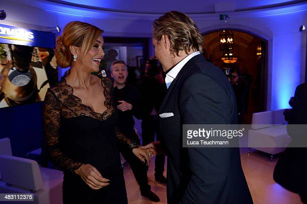 Verona Pooth and Franjo Pooth attend Felix Burda Award 2014 at Hotel Adlon on April 6 2014 in Berlin Germany