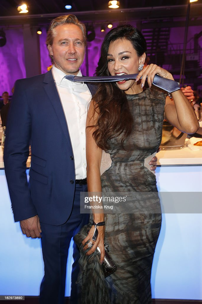 Verona Pooth and her husband Franjo Pooth attend the Deutscher Fernsehpreis 2013 - After Show Party at Coloneum on October 02, 2013 in Cologne, Germany.