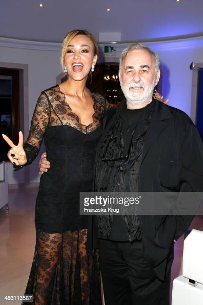 Verona Pooth and Udo Walz attend the Felix Burda Award 2014 at Hotel Adlon on April 06 2014 in Berlin Germany