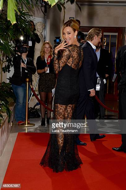 Verona Pooth attends Felix Burda Award 2014 at Hotel Adlon on April 6 2014 in Berlin Germany
