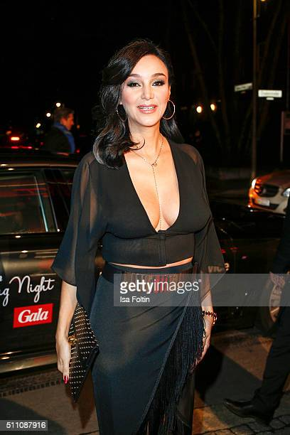 Verona Pooth attends the 'Berlin Opening Night Of GALA UFA Fiction on February 11 2016 in Berlin Germany