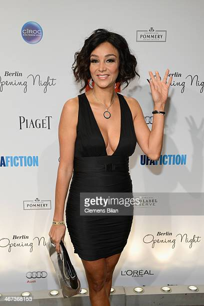Verona Pooth attends the Berlin Opening Night Of Gala Ufa Fiction during the 64th Berlinale International Film Festival at Hotel Das Stue on February...
